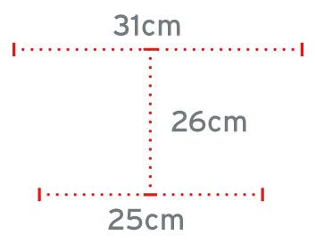Dimenzije štirinožne palice