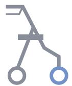 Hodulja RP680 prednje kolo