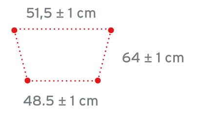 Mere hodulje s kolesi RP758S