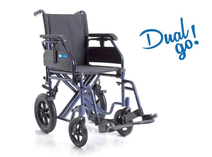 Sedia a rotelle pieghevole doppia crociera Dual CP200